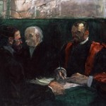 Examination at the Faculty of Medicine, 1901 (oil on canvas)